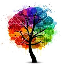 beautiful abstract color tree background vector