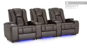 size of home theater seatcraft serenity home theater seating youtube