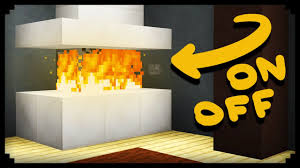 Yellow Fireplace by Minecraft How To Make A Working Fireplace Youtube
