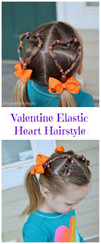 hairstyles with one elastic heart shaped hairstyles elastic tutorial for girls and toddlers