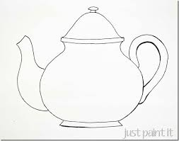 sketching a u201csimple u201d teacup teapot template and embroidery