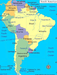 map of central and south america with country names capital capitals south america material world peru political map