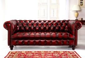 great red leather tufted sofa 75 about remodel office sofa ideas