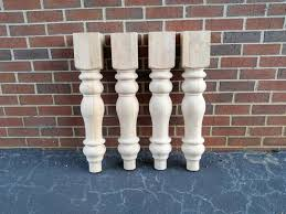 chunky farmhouse table legs unfinished farmhouse dining table legs wood legs turned legs