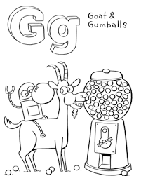 g pictures coloring gumballs and goat coloring pages alphabet g