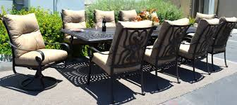 Cast Aluminum Patio Furniture Clearance by Amazon Com 11 Pc Dining Set Cast Aluminum Patio Furniture