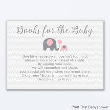 Card Inserts For Invitations Elephant Books For Baby Baby Shower Invitation Insert