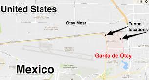 Us Mexico Border Map by Sinaloa Cartel Cross Border Tunnels In Tijuana San Diego