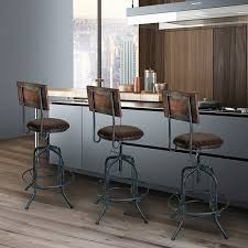 Swivel Bar Stool With Arms Furniture Oak Swivel Bar Stools With Back And Arms Bar Stools
