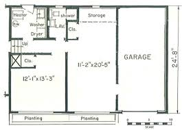 split level garage creating mil suite in split level