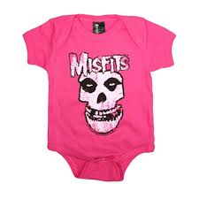 Infant Atlanta Braves Clothes The Misfits Pink Logo Infant One Piece Bodysuit