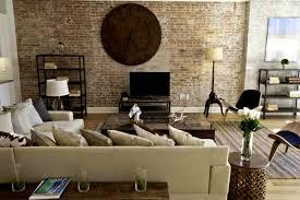 Industrial Decor Furniture Astonishing Striped Rug Living Room Interior Design