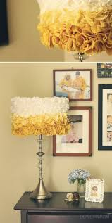122 best lighting and lamps images on pinterest lamp shades diy ify natural turmeric dye ruffled lampshade