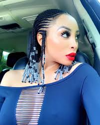 mzansi new braid hair stylish pictures of mzansi female celebrities rocking their fulani braids