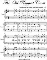 old rugged cross sheet music piano free roselawnlutheran