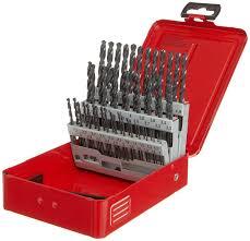 dormer a190202 jobber drill set 1 0 mm 6 0 mm x 0 1 mm size