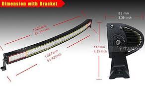 52 inch curved light bar cover car led light bars light ideas light ideas