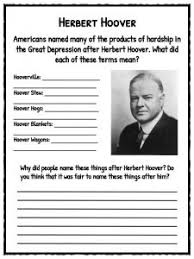the great depression facts information u0026 worksheets resource