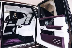 rolls royce van this 2018 rolls royce phantom is purple on purple perfection