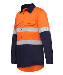 s steel cap boots kmart australia hi visibility two tone cotton drill shirt with 3m sleeve