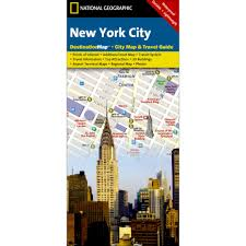 Nyc City Map New York City City Destination Map National Geographic Store