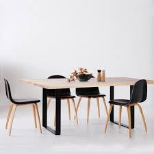 industrial kitchen table furniture designer industrial pyrmont wooden dining table black steel legs