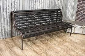 Industrial Bench Original Vintage Bench An Authentic Bench For Inside Or Out