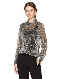 metallic blouse t tahari s metallic josella blouse at amazon s