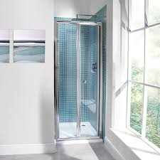 aquafloe 6mm 760 bi fold shower door