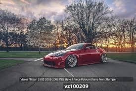 nissan 350z nismo front bumper amazon com vicrez nissan 350z 2003 2008 ing style polyurethane