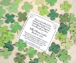 flower seed wedding favors 200 plantable paper clovers flower seed confetti clovers
