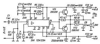 monoblock car amplifier tda7294 u2013 circuit wiring diagrams