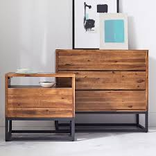 Dresser As Nightstand Logan Industrial Nightstand Natural West Elm