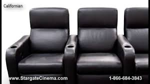fortress home theater seating by stargate cinema youtube