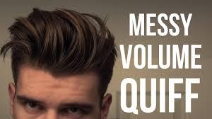men u0027s messy voluminous hairstyle tutorial men u0027s hair 2016 youtube