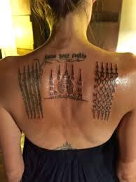 thai monk gives angelina jolie painful tattoos u0027binding her u0027 to