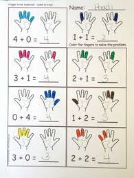 finger counting addition activity u0026 worksheets heidisongs