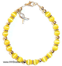 yellow bracelet images Bladder cancer awareness bracelet 6mm yellow sarcoma awareness jpg