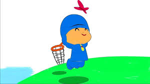 pocoyo coloring childrens coloring pocoyo butterfly