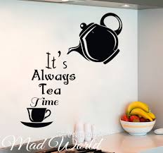 online get cheap alice in wonderland wall art murals aliexpress mad world alice in wonderland tea time wall art stickers decal home diy decoration wall mural removable room decor wall stickers