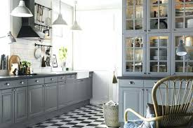 ikea kitchen ideas 2014 traditional kitchen with grey island and cozy stools near