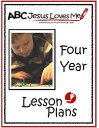 amazon com 3 year lesson plans abc jesus loves me preschool