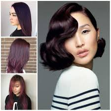 plum hair color trend for 2017 hairstyles 2018 new haircuts and