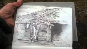 vladimir u0027s pencil drawing of an abandoned building youtube