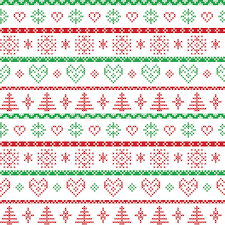 and green on the white background nordic pattern
