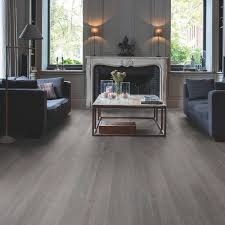 Aqua Step Waterproof Laminate Flooring Step Paso Dark Grey Oak Effect Waterproof Luxury Vinyl Flooring