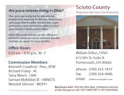 Map Of Holmes County Ohio by County Veterans Service Offices