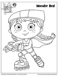 Super Why Coloring Book Pages From Pbs Sw Coloring Page