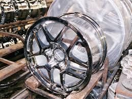 chrome corvette wheels chrome plated corvette wheels wheel plating shop tour