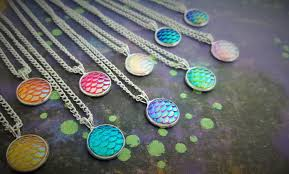 bottle cap necklaces wholesale mermaid scales necklace mermaid tail jewelry fantasy